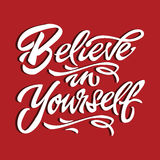 Believe in yourself quote motivational poster typography card Royalty Free Stock Photos