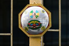 China`s Mirror charm help to reflect the evil out of the house. royalty free stock images