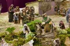 Believers. In queue to give their presents to baby Jesus Stock Image
