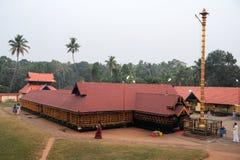 Believers praying at the hindu temple of Kollam Royalty Free Stock Photos