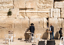 Believers by the Western Wall, Wailing Wall or Kotel Stock Image