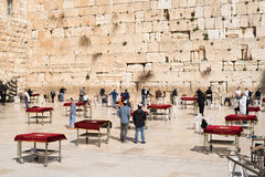 Believers by the Western Wall, Wailing Wall or Kotel Royalty Free Stock Image