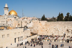 Believers by the Western Wall, Wailing Wall or Kotel Royalty Free Stock Images