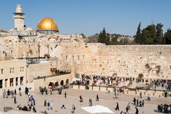 Believers by the Western Wall, Wailing Wall or Kotel Royalty Free Stock Photography