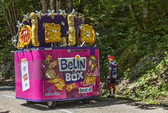 Belin Box Car. Col du Granier,France-July 13th, 2012: The car of the Belin Box during the passing of the Publicity Caravan on the category I climbing route to Stock Photo