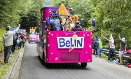 Belin Caravan in Vosges Mountains - Tour de France 2014 Royalty Free Stock Photography