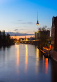 Belin, river Spree in the evening Royalty Free Stock Image