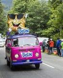 Belin Vehicle in Vosges Mountains - Tour de France 2014 Stock Photo