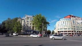 Belinskogo-Straße in Nizhny Novgood stock video