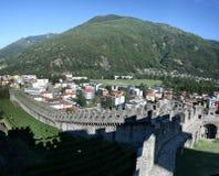 belinzona城堡 免版税图库摄影