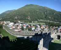 Belinzona castles Royalty Free Stock Photography