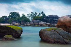 Belitung. Long exposure photo of the Belitung's beach, Indonesia Stock Photography