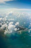 Belitung island indonesia aerial shot Royalty Free Stock Photos