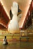 Belivers praying at the pagoda Chaukhtatgy of Yangon Royalty Free Stock Image