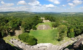 Belize. The panoramic view of Xunantunich (Stone Lady) archaeological site in Belize stock photos