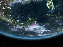 Belize alla notte Fotografie Stock