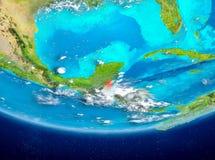 Belize auf Kugel vom Raum Lizenzfreies Stockfoto