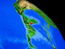 Belize auf Planet Erde lizenzfreie abbildung