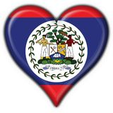 Belize button flag heart shape Stock Photos