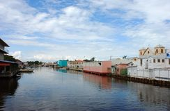 Belize City Canal. The canal in the middle of Belize City, Belize Stock Photos