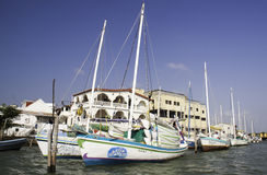 Belize City - Colorful Sailboats Royalty Free Stock Image