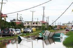 Belize city flooding Stock Images