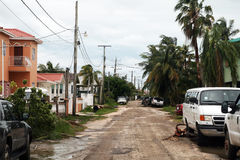 Belize city road. A road of belize city Royalty Free Stock Image