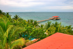 Belize Coast. A View of the Beautiful Coast of Belize royalty free stock photos