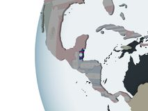 Belize con la bandiera sul globo Royalty Illustrazione gratis