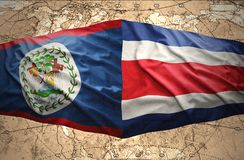 Belize and Costa Rica Royalty Free Stock Photo