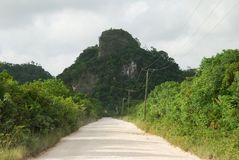 Belize Countryside Road Stock Image