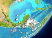 Belize da spazio Fotografia Stock