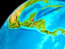 Belize da spazio Fotografie Stock Libere da Diritti