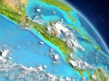 Belize dall'orbita Immagine Stock