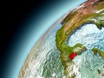 Belize dall'orbita di Earth di modello Illustrazione di Stock