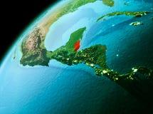 Belize de l'espace dans la soirée illustration stock