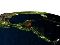 Belize de l'espace la nuit illustration libre de droits