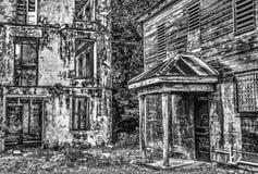 Belize di costruzione abbandonata Fotografia Stock