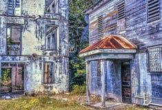 Belize di costruzione abbandonata Fotografie Stock Libere da Diritti