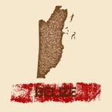 Belize distressed map. Stock Photos