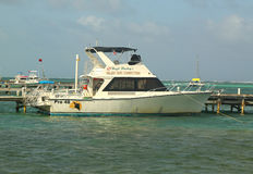 Belize Dive Connection boat in San Pedro, Belize Stock Images