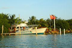 Belize Diving Services boat in Caye Caulker Royalty Free Stock Image