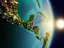 Belize durante l'alba Fotografia Stock Libera da Diritti