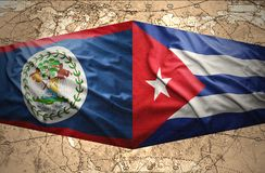 Belize e Cuba Fotografia Stock