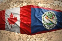 Belize ed il Canada Fotografia Stock Libera da Diritti
