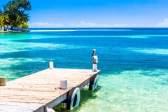 Belize, een tropisch paradijs in Midden-Amerika royalty-vrije stock afbeelding