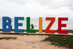 Belize färger Arkivfoto