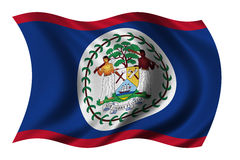 belize flagę Fotografia Royalty Free