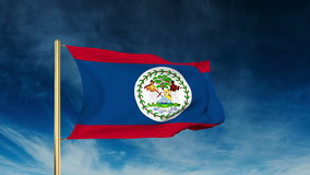 Belize flag slider style. Waving in the win with stock video