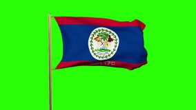 Belize flag with title waving in the wind. Looping stock footage